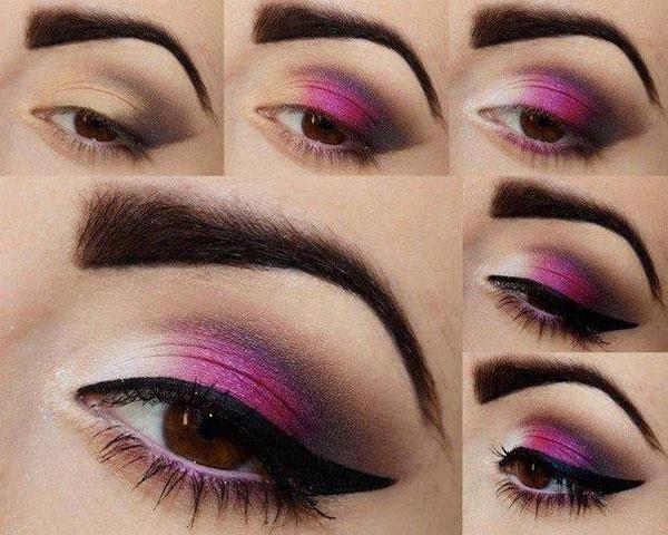 آرایش صورت آرایش و زیبایی  , آموزش تصویری آرایش چشم (3)