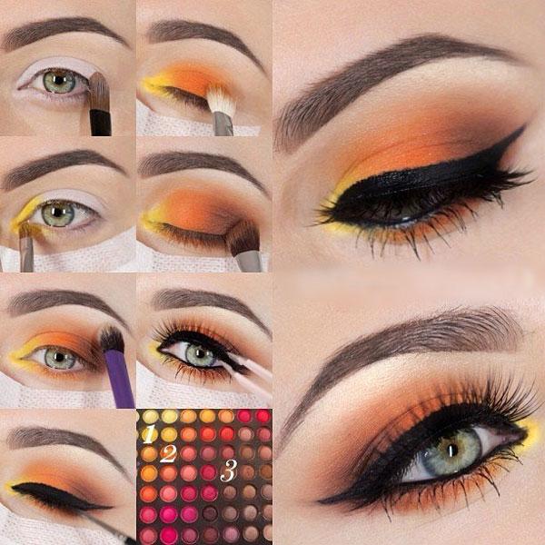روش آرایش چشمها - آموزش میکاپ چشم - سایه زدن - کشیدن خط چشم