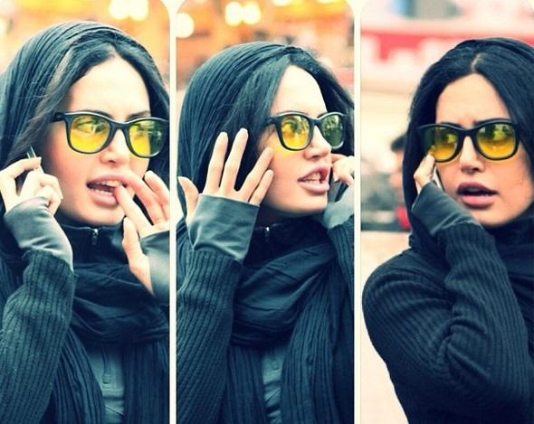6- مدل آرایش الناز شاکر دوست