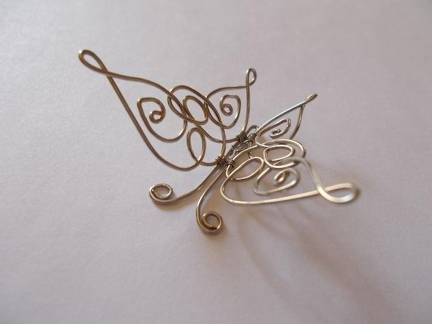 آموزش هنرهای دستی  , آموزش ساخت آویز پروانه با سیم