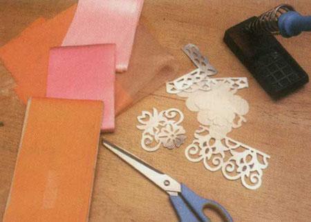 آموزش هویه کاری : ساخت رومیزی ساتن و حریر