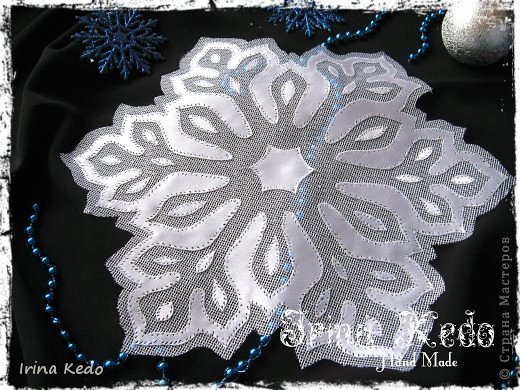 آموزش هویه کاری - هویه کاری رومیزی - رومیزی طرح دانه برف