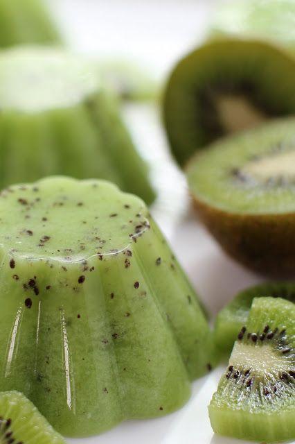 تزیین ژله - دسر مجلسی - ژله کیوی - ژله میوه ای