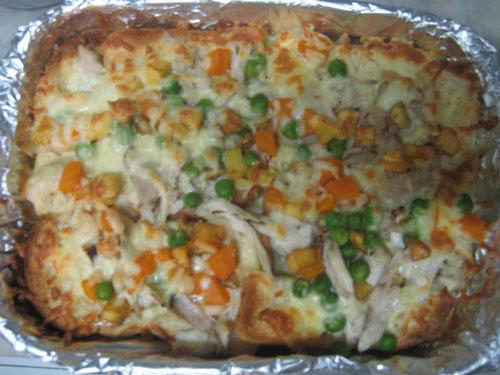 طرز تهیه پیتزا با نان تست - پیتزا لایه ای - پیتزا طبقاتی