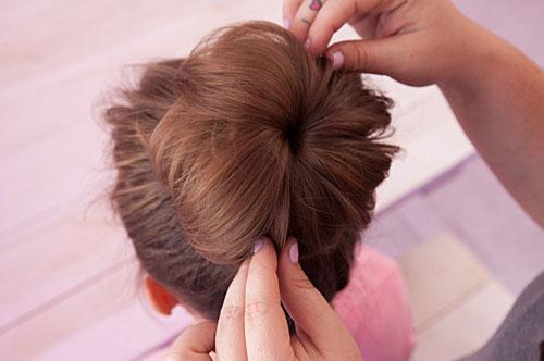 آموزش مدل موی گوجه ای با جوراب - آموزش آرایش مو - بستن موی بلند