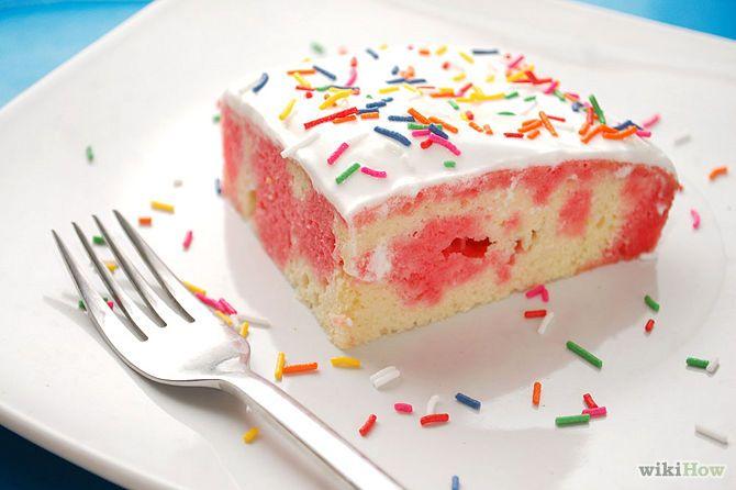 طرز تهیه کیک ژله ای