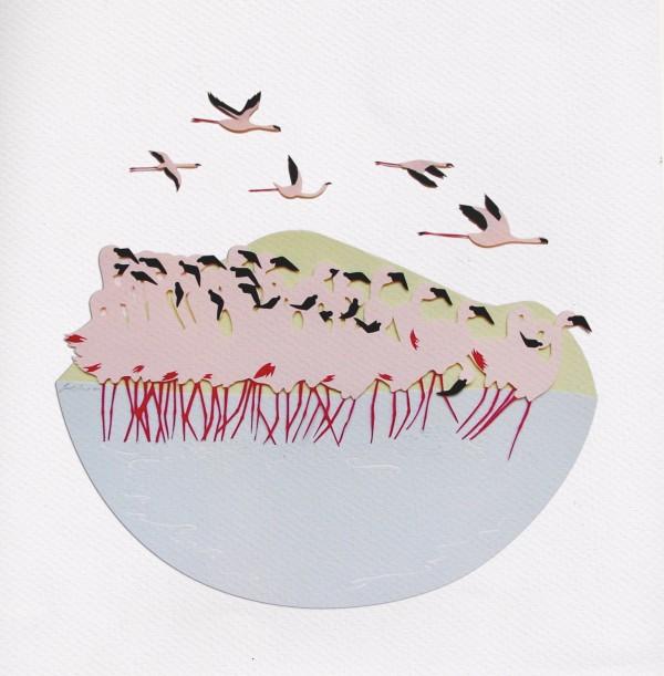 کلاژ - برش کاغذ - سارا دنیس - نقاشی با کاغذ