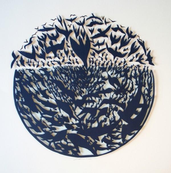 کلاژهای دیدنی - برش کاغذ - سارا دنیس - نقاشی با کاغذ