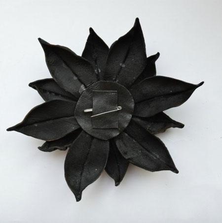 درست کردن گل چرمی, آموزش تصویری ساخت گل چرمی