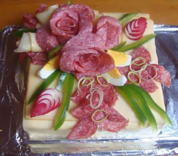 تزئین کیک مرغ