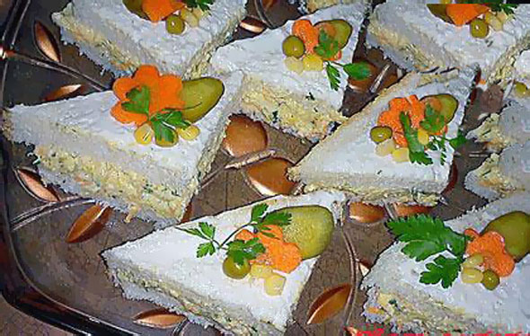 تزیین کیک مرغ - تزئین کیک الویه تک نفره