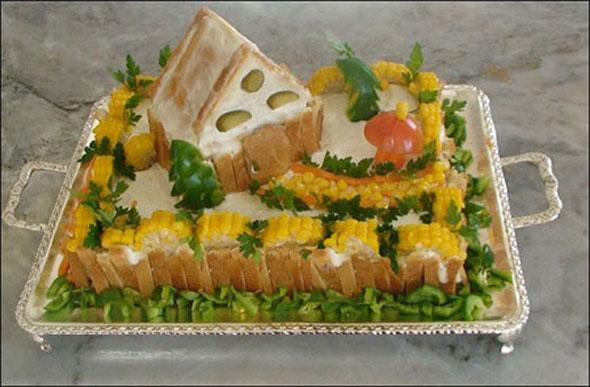 تزیین کیک مرغ - تزئین الویه برای تولد کودک
