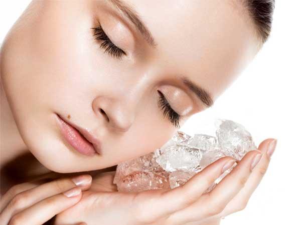 پوستی شاداب و زیبا با یخ درمانی