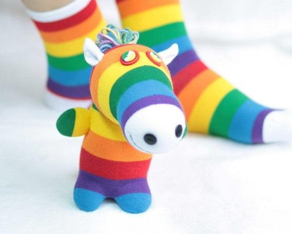 عروسک جورابی - عروسک ساخته شده با جوراب