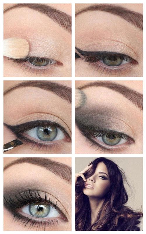 آموزش تصویری آرایش چشم  - آموزش میکاپ چشم یه صورت تصویری