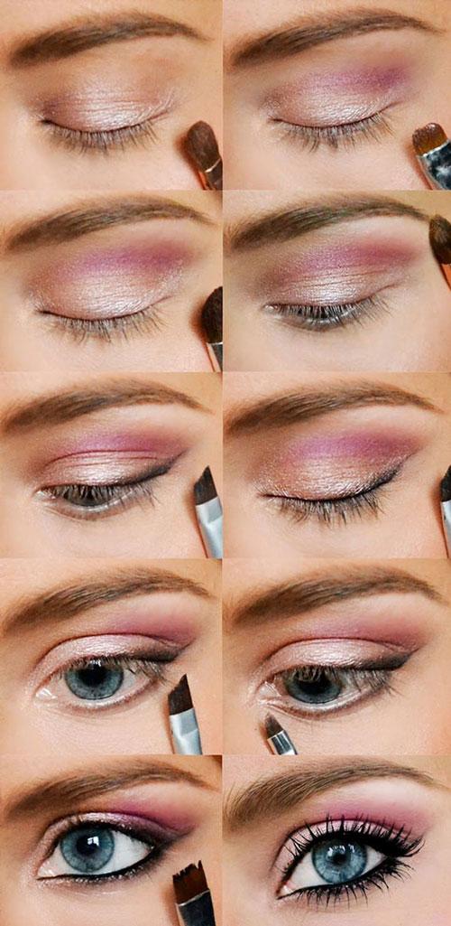 آموزش تصویری آرایش چشم  - آموزش تصویری میکاپ چشم