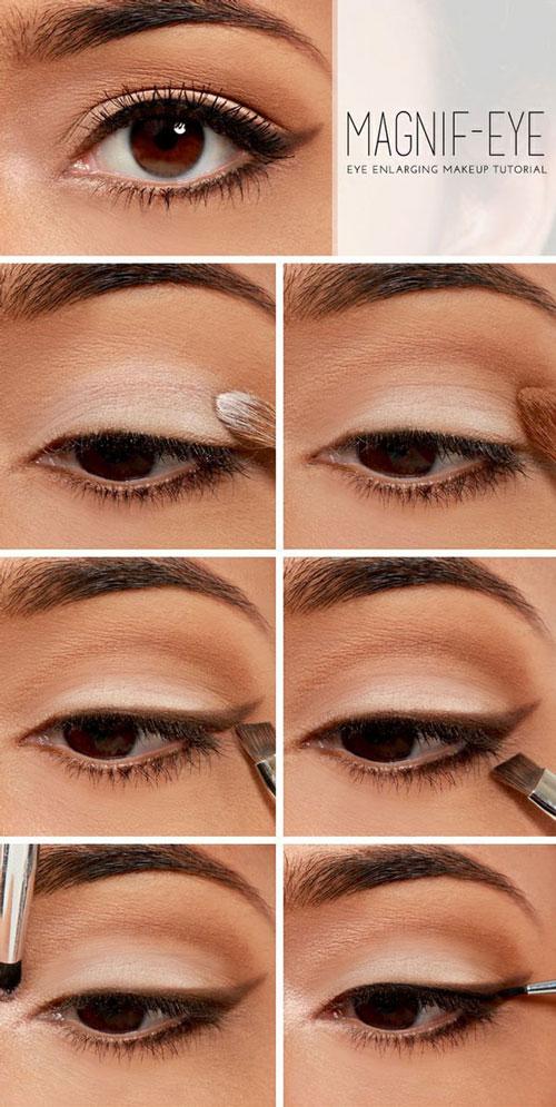 آموزش آرایش چشم  - آموزش تصویری میکاپ چشم