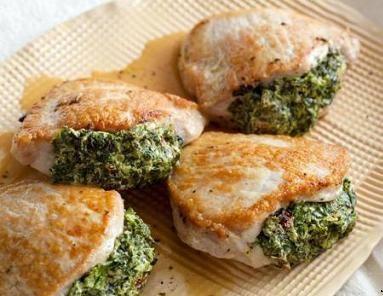 سینه مرغ با پنیر در فر