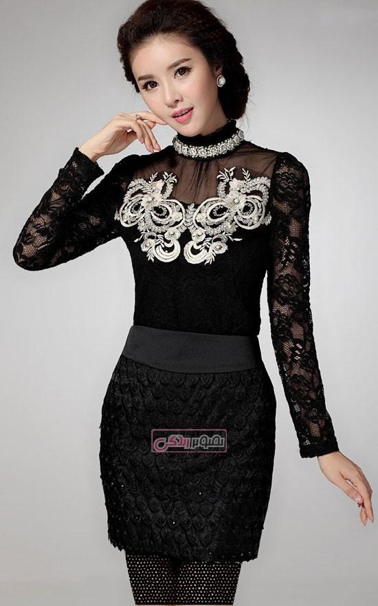 مدل تین ایجر - لباس مجلسی- مدل لباس کره ای