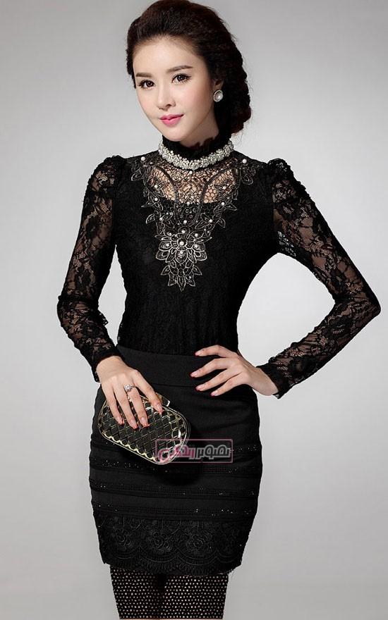 مدل بلوز مجلسی - لباس مجلسی- مدل لباس کره ای