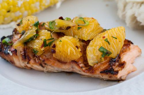 طرز تهیه ماهی قزل آلا با لایه ی لیمو و نعنا - غذای رژیمی