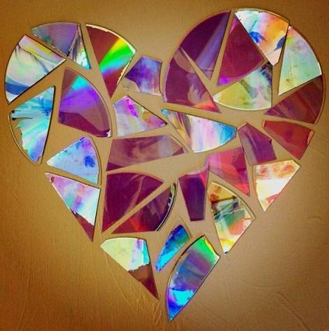 آموزش روش بریدن سی دی - برش cd - تزیین با سی دی شکسته