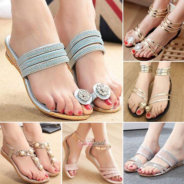مدل های زیبا و شیک صندل دخترانه ۲۰۱۵ – مدل کفش تابستانی – صندل مجلسی