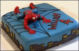 آشپزی آسان نان، شیرینی، دسر  , عکس کیک تولد با طرح مرد عنکبوتی