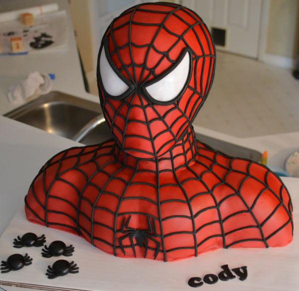 کیک تولد به شکل مرد عنکبوتی - کیک برای تولد پسر بچه