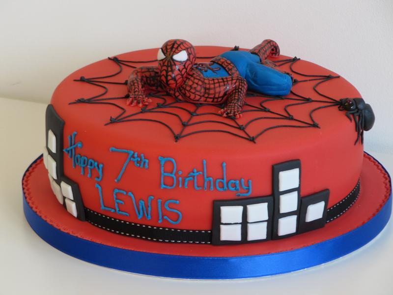عکس کیک تولد با طرح مرد عنکبوتی مجله تصویر زندگی
