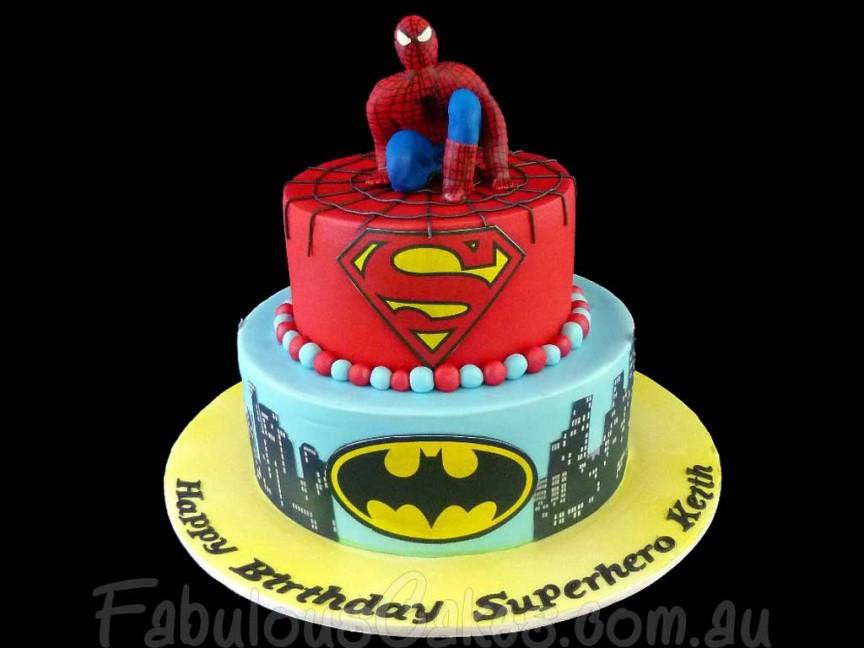 کیک تولد مرد عنکبوتی - کیک برای تولد پسر بچه
