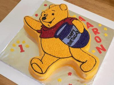 مدل کیک تولد - کیک تولد به شکل خرس پو