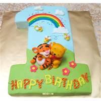 نان، شیرینی، دسر  , مدل کیک تولد با طرح خرس پو