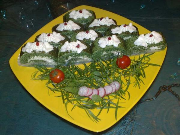طرز تهیه کوکو سبزی رولتی