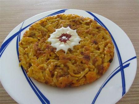 طرز پخت کوکوی ماکارونی