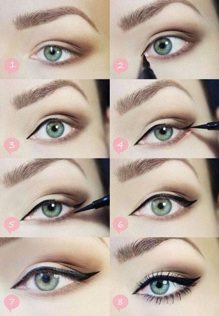 آرایش صورت آرایش و زیبایی  , آموزش تصویری میکاپ چشم 2