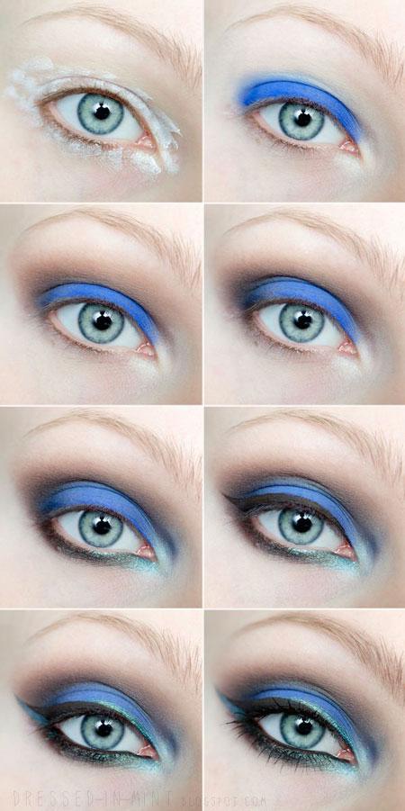 آرایش کردن چشم - آموزش میکاپ چشم - سایه زدن - کشیدن خط چشم