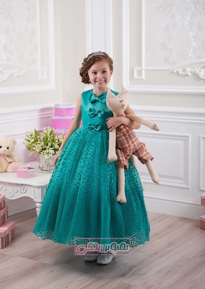 مدل های زیبای لباس مجلسی بچگانه - پیراهن حریر چین چین