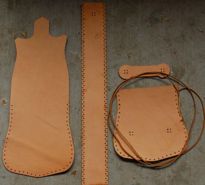 آموزش دوخت کیف چرمی با دست