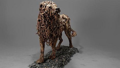 مجسمه های چوبی بی نظیر ساخته James Doran-Webb