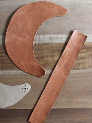 آموزش تصویری ساخت آفتابگیر چرمی - آموزش چرم دوزی - کار با چرم