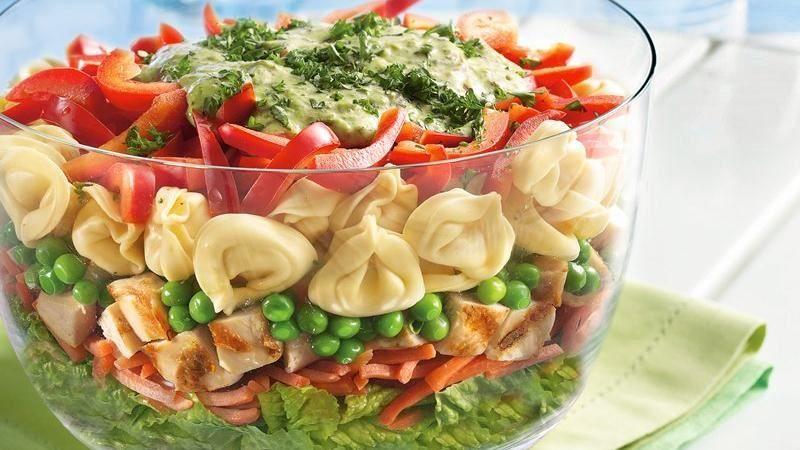 دستور پخت غذا  , طرز تهیه 10 نوع سالاد لایه ای