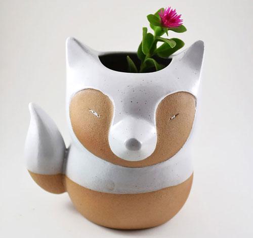 گلدان های سرامیکی زیبا به شکل حیوانات