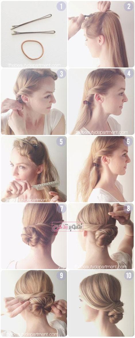 آموزش شینیون موی عروس