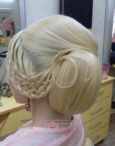جدیدترین مدل های شینیون مو - آرایش موی عروس