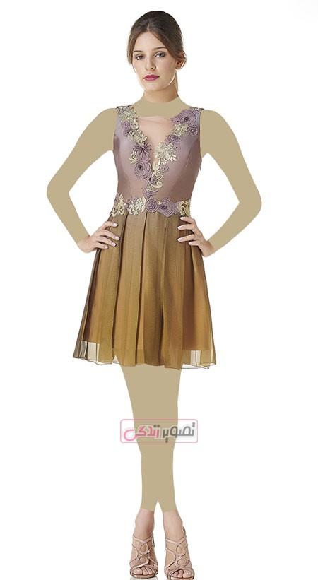 مدل لباس مجلسی 2015 - پیراهن کوتاه مجلسی زنانه