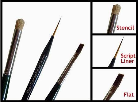 آموزش نقاشی روی سنگ - قلم موی رنگ آمیزی سنگ