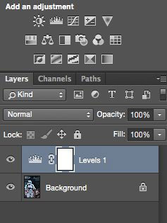 ابزار levels فتوشاپ, روتوش عکس