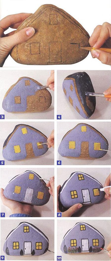 آموزش نقاشی روی سنگ