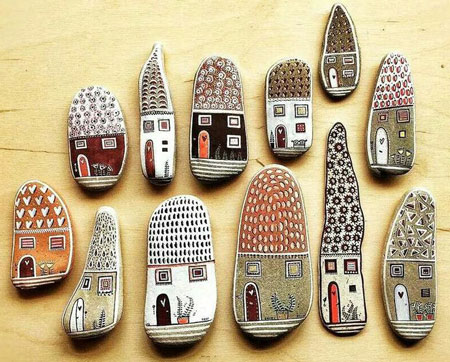 نقاشی روی سنگ , تزیین سنگ, رنگ آمیزی سنگ